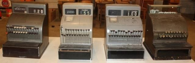4 Vintage Cash Registers