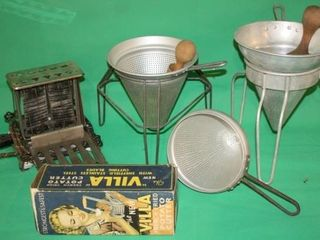 Strainers  Potato Cutter and Toaster