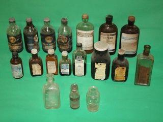 18 Old Vintage Bottles