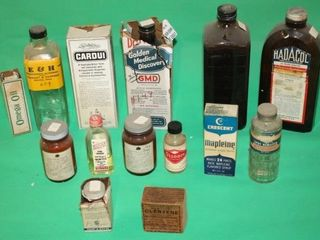 14 Old Vintage Bottles