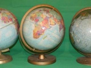3 World Globes