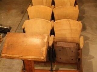 Wooden Movie Theater Chair Seats   Podium