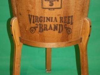 Virginia Reel Brand Bar S Round Wooden Box