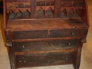 Fold Down Top Secretary Dresser Style Desk