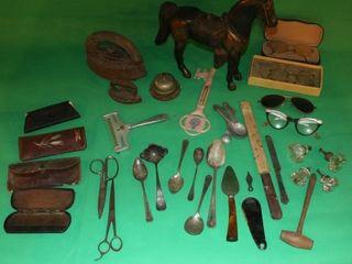 Metal Horse Statue  Eye Glasses  Knobs   Utensils