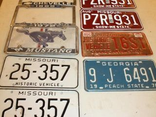 Vintage license Plates   Plate Covers