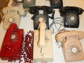 8  60 s Style Retro Rotary Type Phones