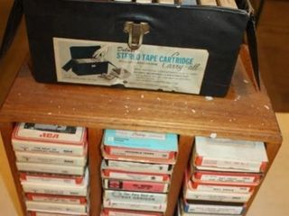 Approx  62 8 Track Tapes   Display Boxes