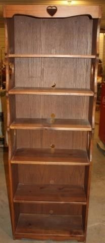 6 shelf Wooden Book Case