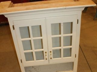 Bathroom Above Toliet Cabinet w Glass Front
