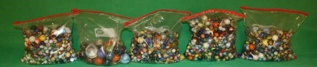 5 Gallon Bags of Various Marbles 5x s The Money