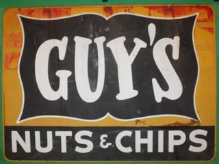 2 Sided Guys Nuts   Chips Metal Sign