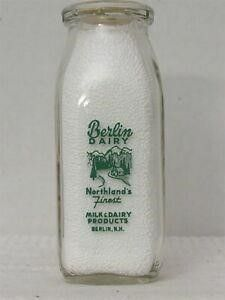22 Berlin Dairy  Berlin  NH Half Pint Milk Bottles