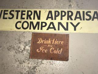 Vintage Coca Cola   Western Appraisal Tin Signs
