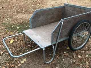Metal Frame 2 wheel Garden Cart