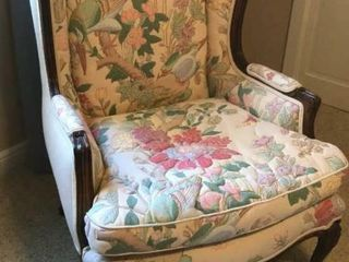 Floral Wingback Arm Chair
