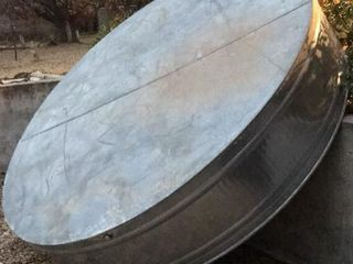 9 5ft Galvanized Tank  w  Holes for Pool Filter