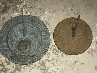 2 Cast Iron Sun Dials