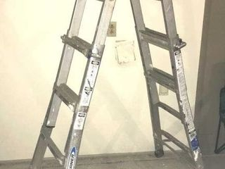Werner 17IJ 300lb Folding Telescoping ladder
