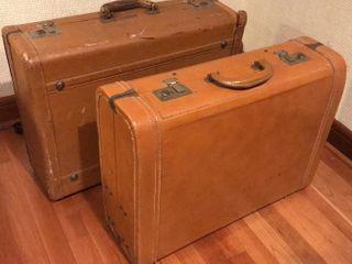 2  Vintage Hardside Suitcases