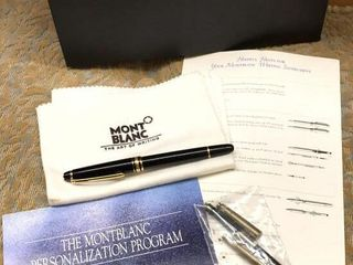 Mont Blanc Fountain Pen w  Case