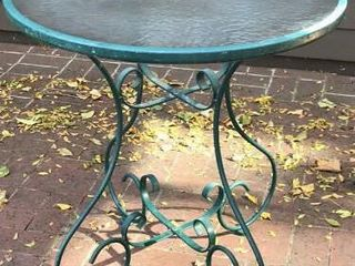 28  Round Green Porch Table