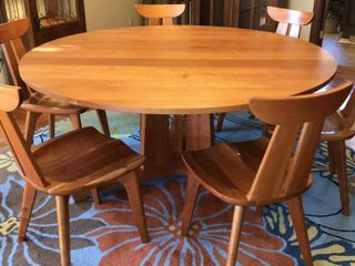 Modern Round Dining Set with 6 Chairs