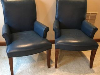 2  Whittwmore Sherril Blue Matching Arm Chairs