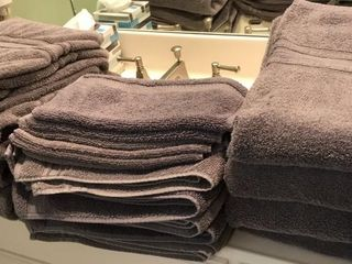 Set of Gray Charisma Bath Towels