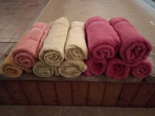 11  large Bath Towels  Various Colors