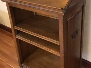 Solid Wood library Stand w  Shelves
