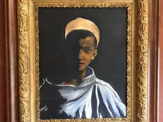 Gilt Wood Frame Oil on Canvas Painting