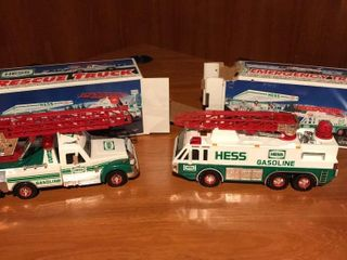 2  Hess Gasoline Toy Trucks  like New