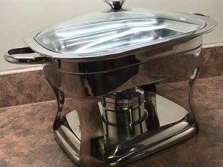Stainless Steel 5 2 qt Chafing Dish w  Stand