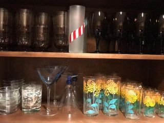 large Selection of Wine   Water Glasses