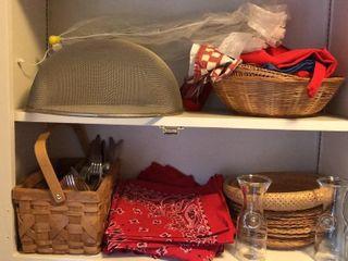 Picnic Ware  Bandanna Bags  Baskets  Jars