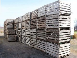 OVER 50 4 x4  WOODEN VEGETABlE CRATES