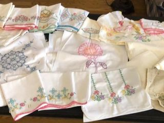 Cross Stitch and Embroidered linens