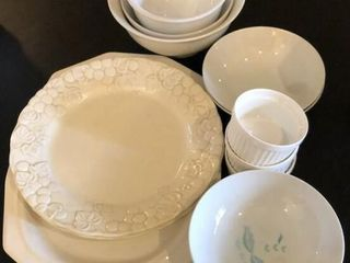 Assorted White Dinnerware