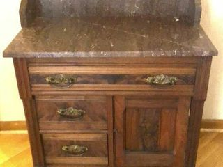Antique Marble Top Dry Sink