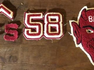 1958 Decatur High School letterman Patches