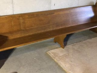 Solid Oak Church Pew  10ft