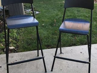 2  Black High Top Stools