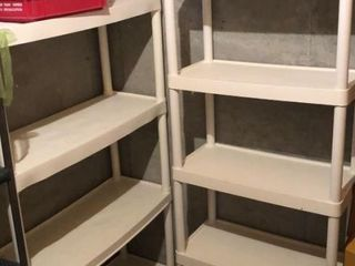 2  White Plastic Shelves