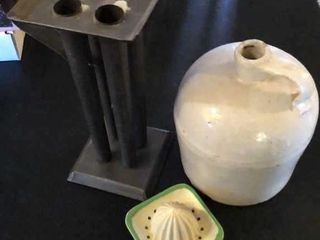 Stone Jug  Candlestick Molds  Juicer