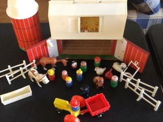 Playskool Farm  Silo  People and Animals