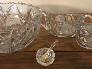 Crystal Bowl  Cream and Sugar Bowls