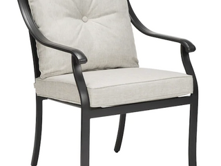 Four Slate Metal Dining Chairs in Gray