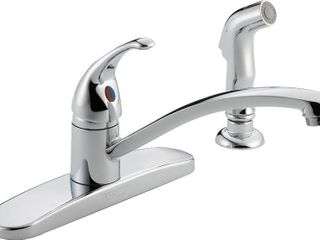 Delta Single Handle Kitchen Faucet With Matching Side Spray
