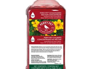Perky Pet 32 oz Red Hummingbird Nectar Concentrate  amp  Feeder